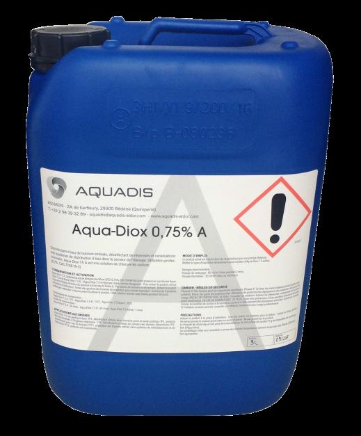 aqua-diox 0.75A 10 L opacite 100 couleur blanche